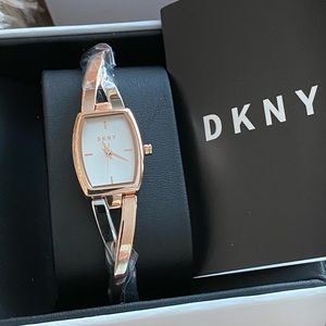 DKNY Two Tone Rose Gold Silver Stainless Watch